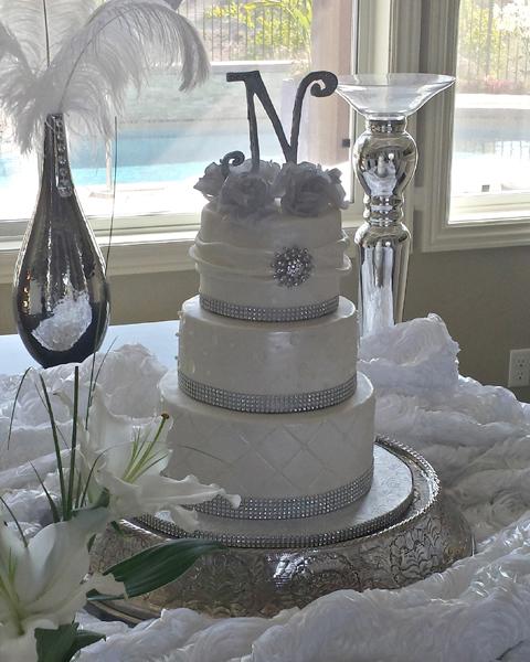3 Tier Bling Cake