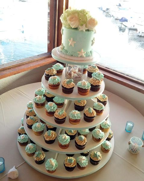 Buttercream Seaside Cupcakes