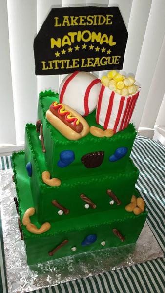 3 Tier Baseball Fondant Cake