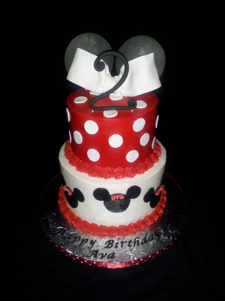 Buttercream Minnie Cake