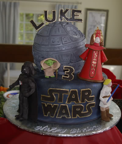 Fondant Cake with Death Star