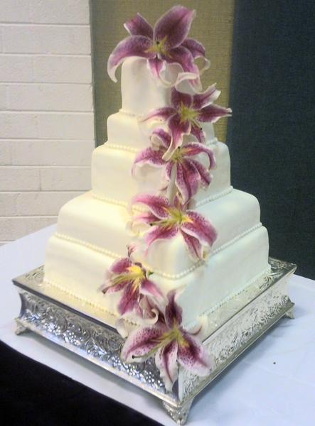 5 Tier Fondant Cake