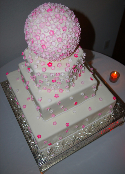 4 Tier Fondant Cake