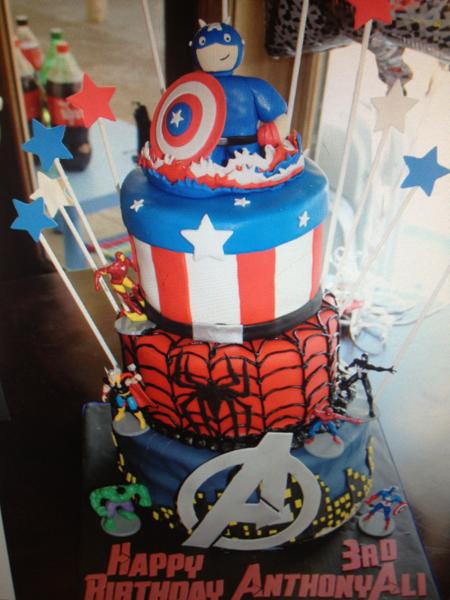 3 Tier Avengers Cake