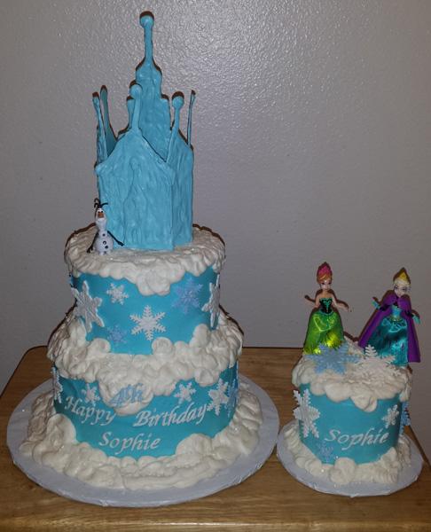 Buttercream Cake & Chocolate Castle