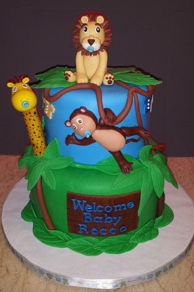 2 Tier Fondant Cake