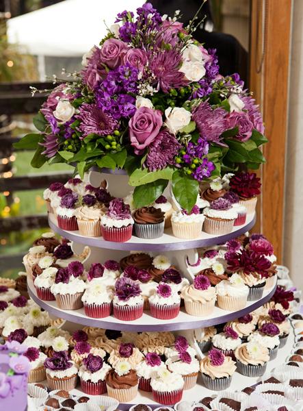 Flower Cupcake Tower