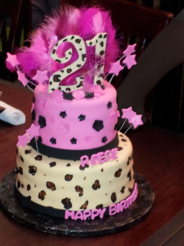 Cheetah Star Cake