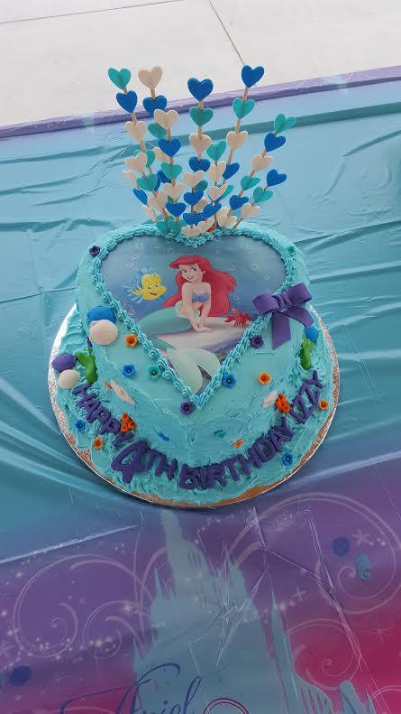 Ariel Buttercream Cake