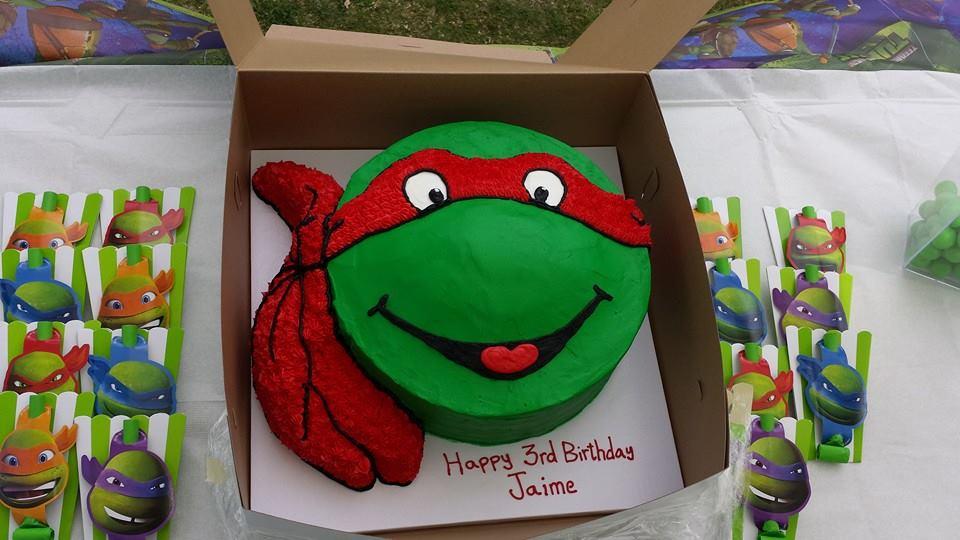 Raphael Ninja Turtle Cake