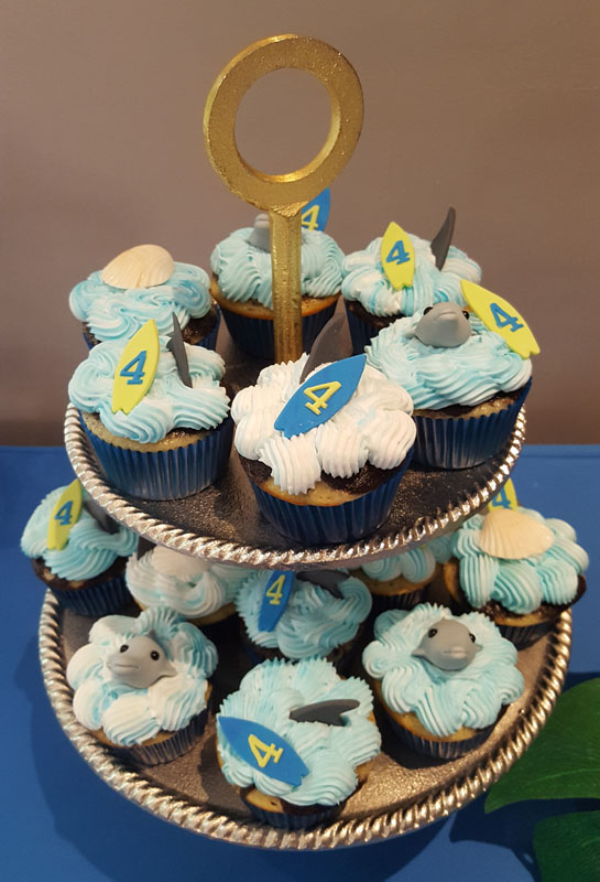 Surf Theme Cupcakes
