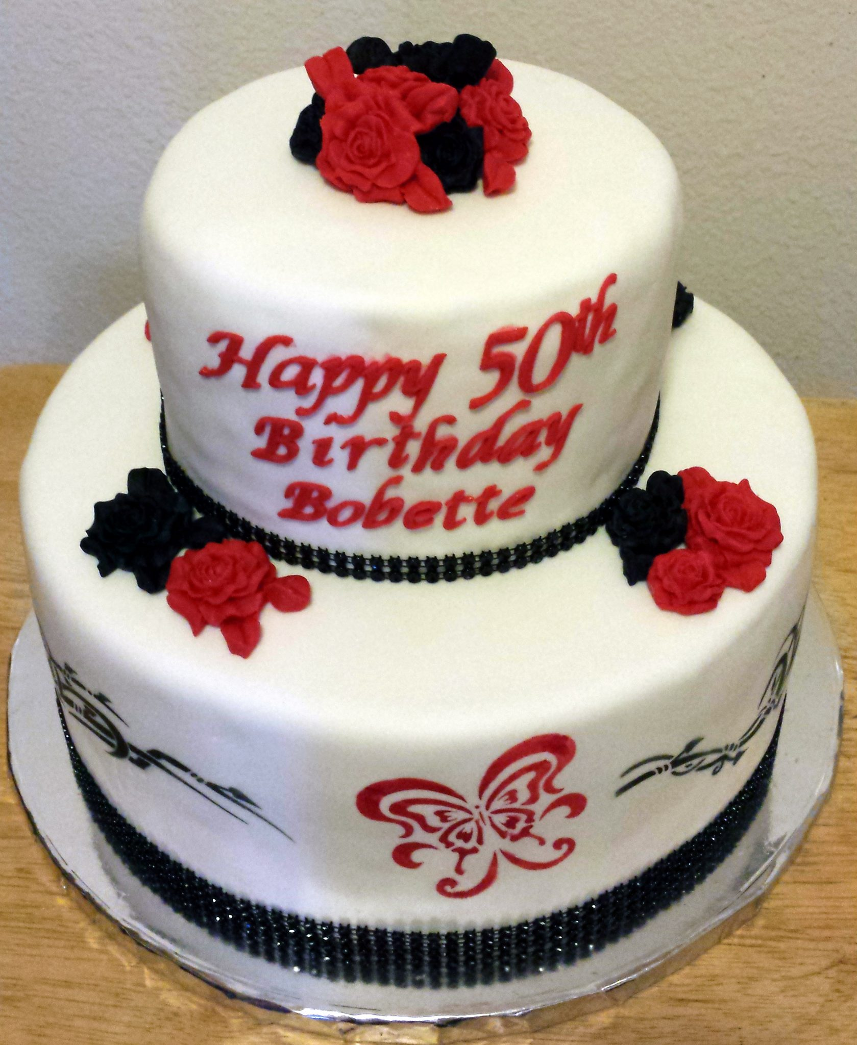 Butterfly Tattoo Cake