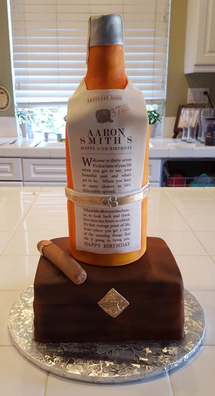 Basil Hayden Custom Cake