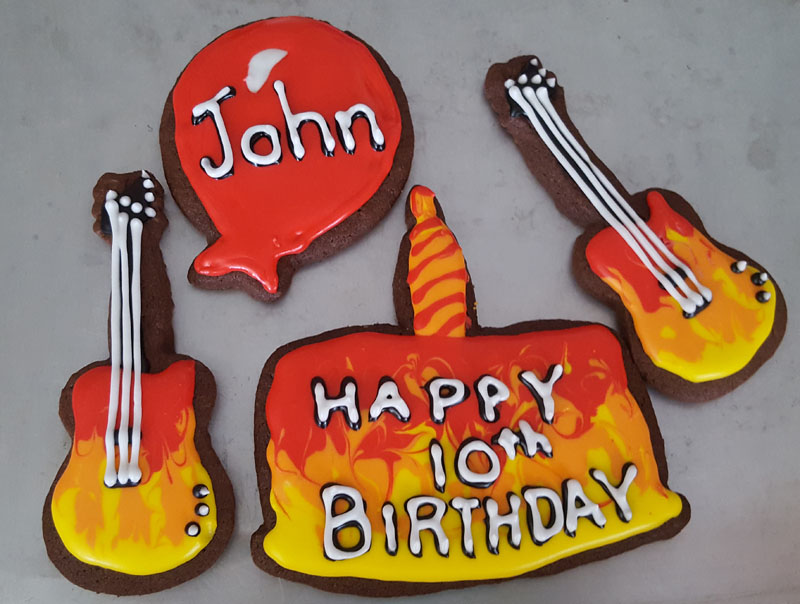 Flame Guitar Birthday