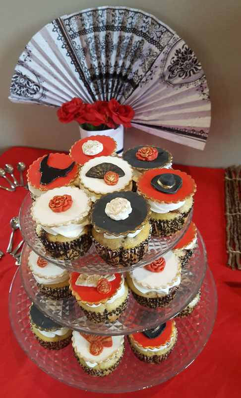 Flamenco Theme Cupcakes