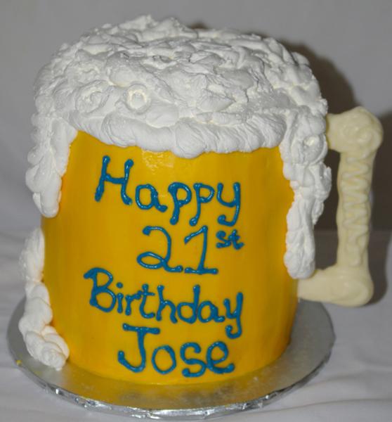 3D Buttercream Beer Cake