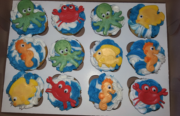Sealife Buttercream Cupcakes