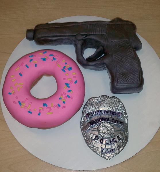 Cop Graduation Sugar Figures