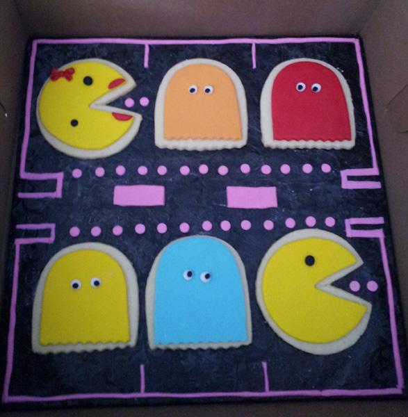 PacMan & Mrs PacMan Cookies