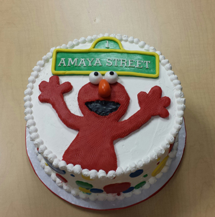Elmo Whipcream Cake