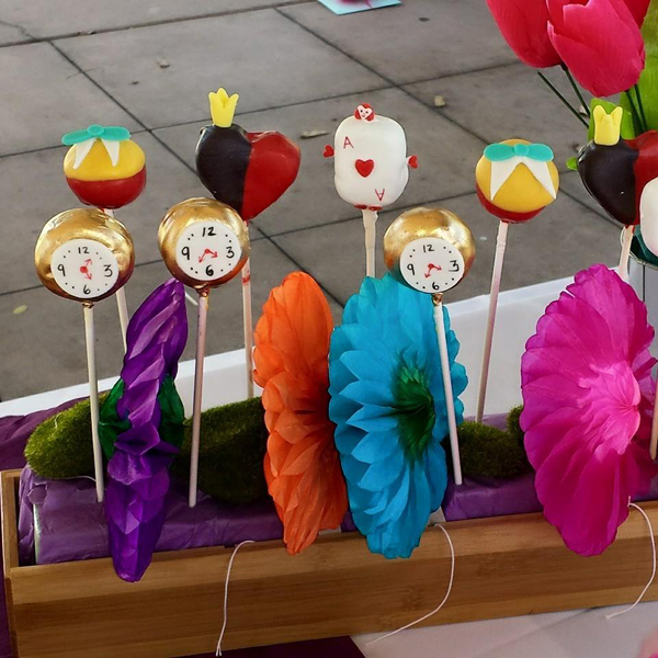 Alice Theme Cake Pops