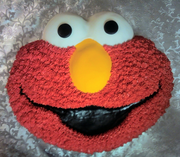 Elmo Buttercream Cake