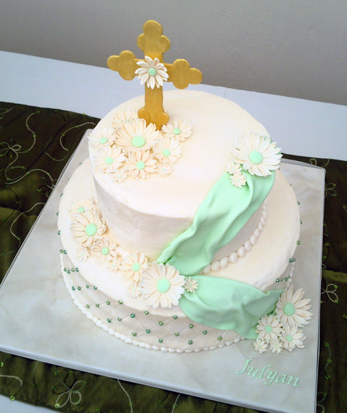 Buttercream Christening Cake