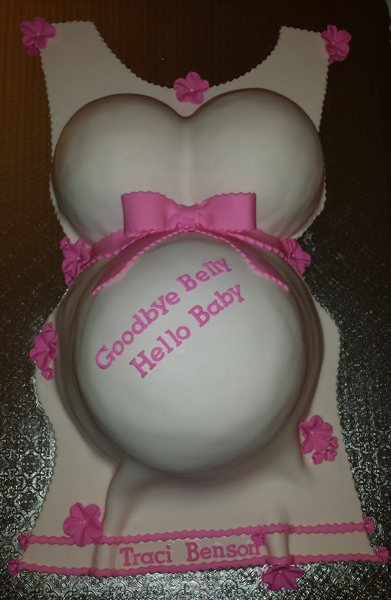 3D Baby Belly Cake