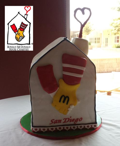 3D Fondant Logo Cake