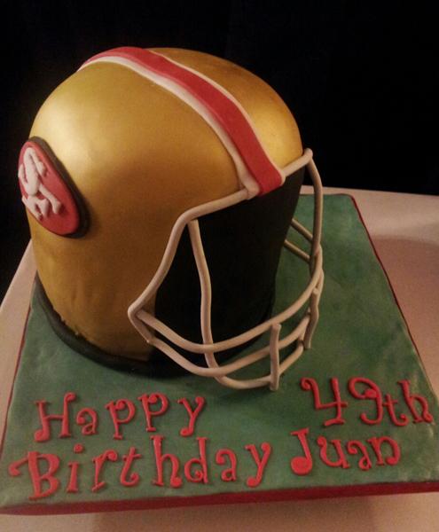 3D Football Helment Cake