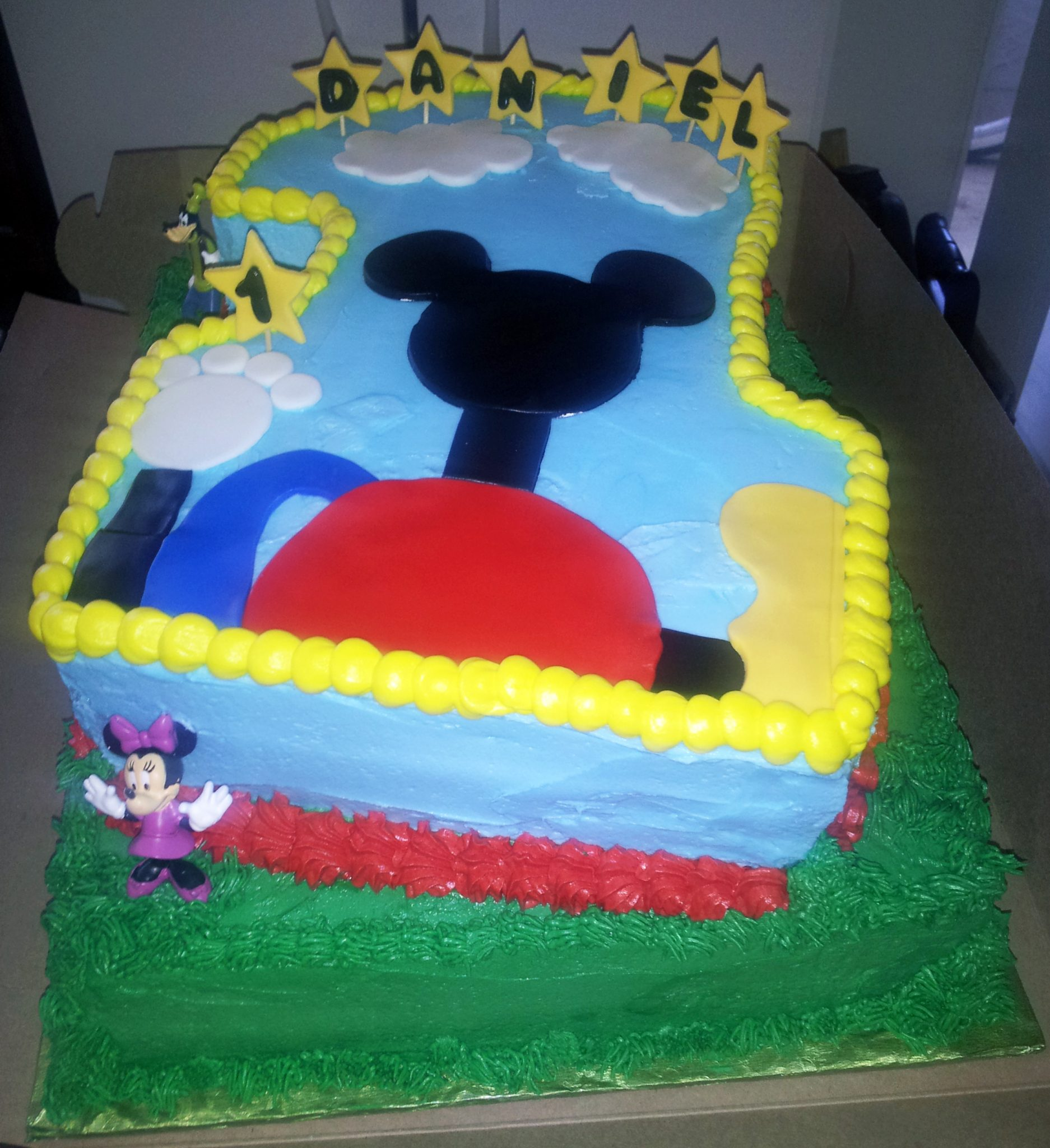 Mickey Clubhouse Buttercream Cake