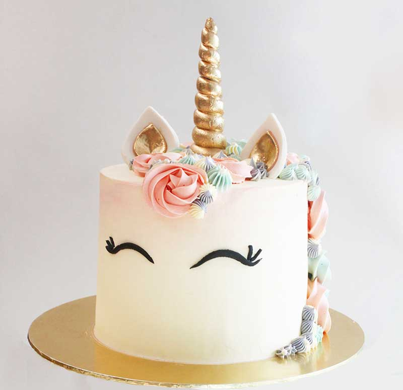Cake Decorating Ideas Rainbow Unicorn