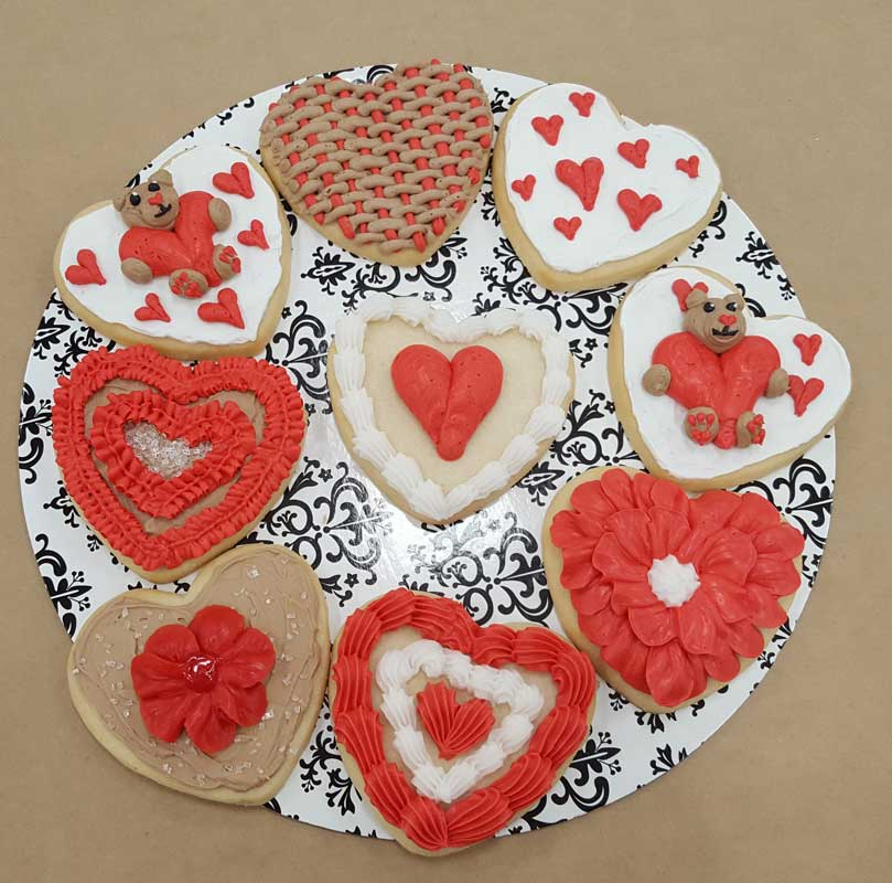 Teddy & Heart Cookies