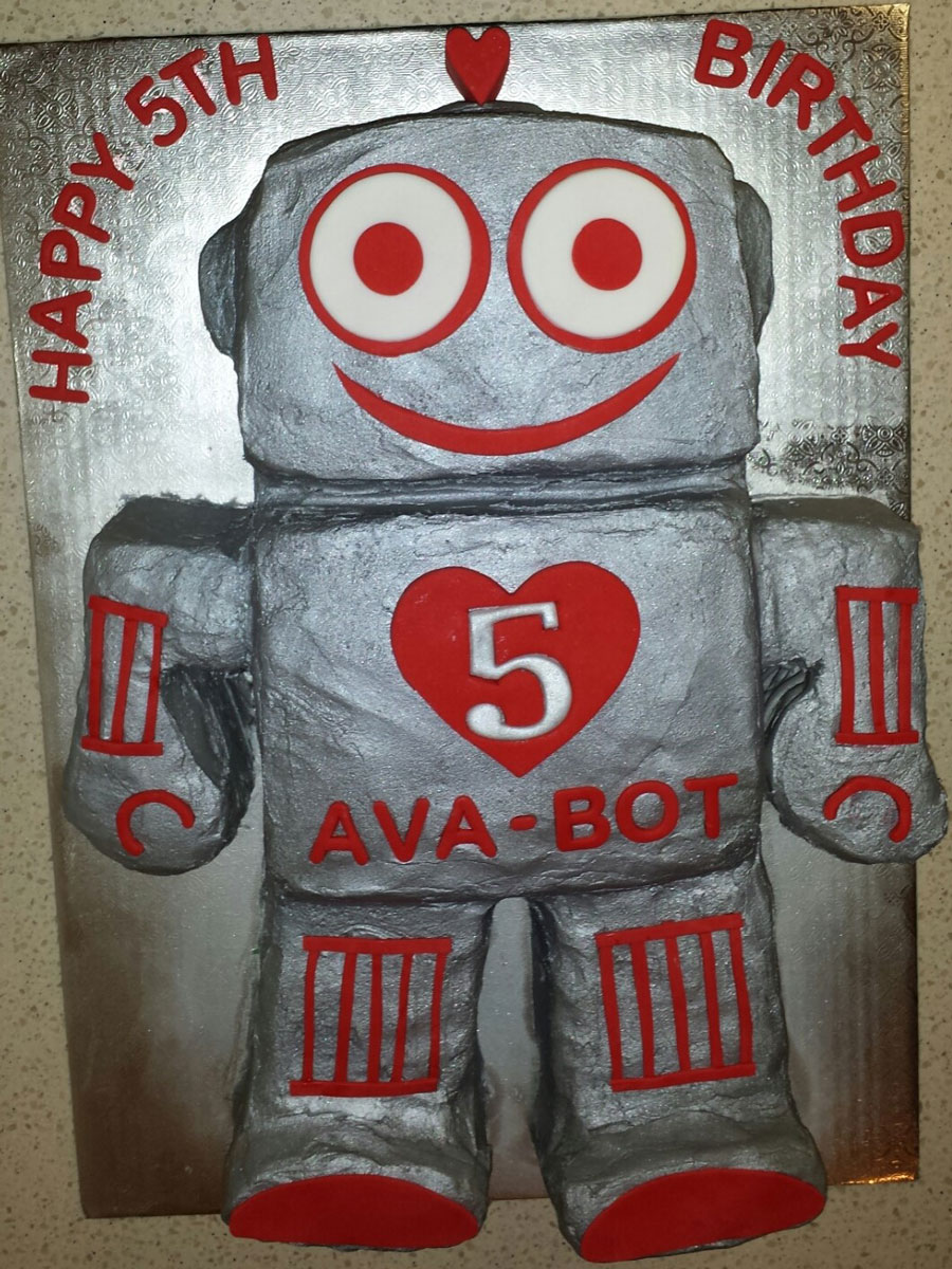Buttercream Robot Cake
