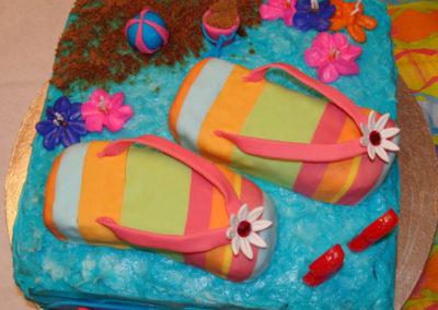 Flip Flop Buttercream Cake