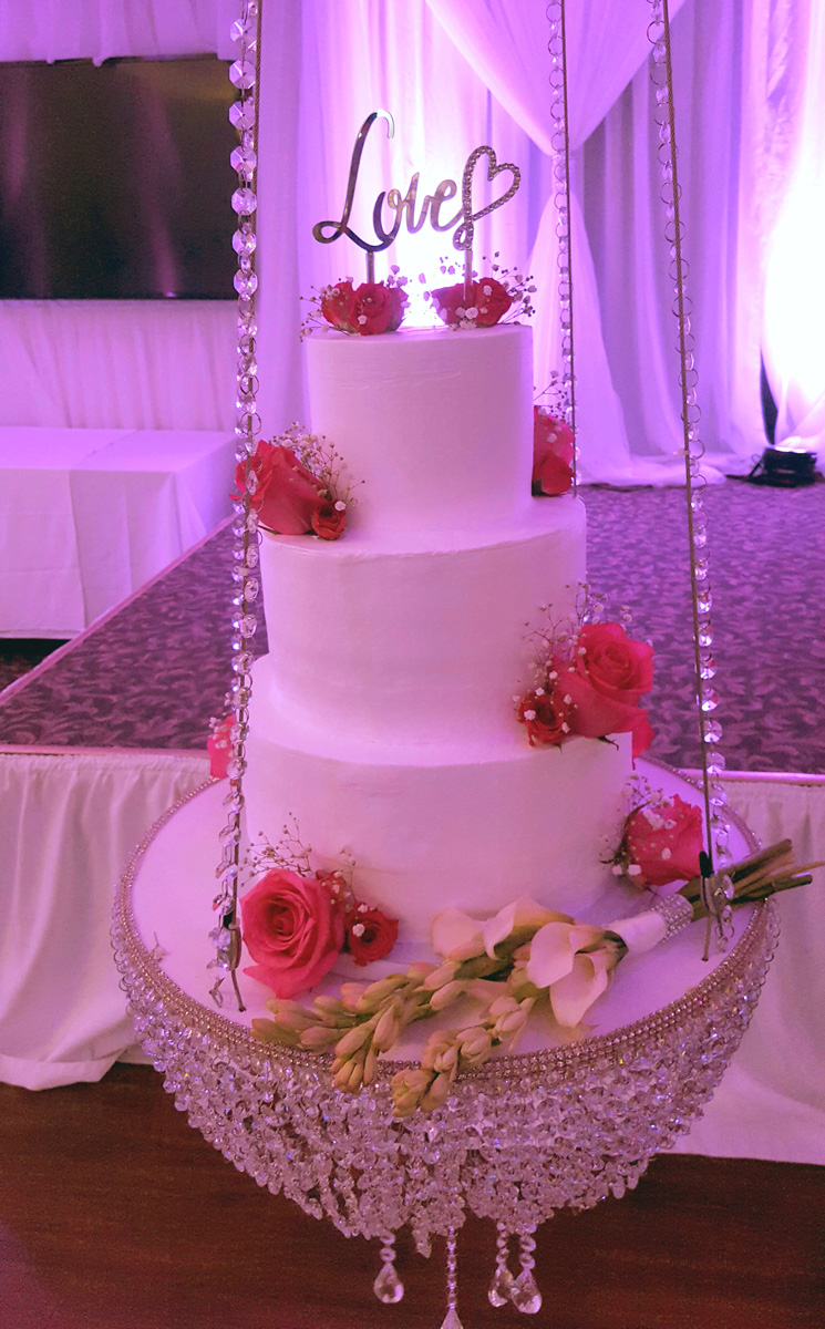 Buttercream Cake on Chandelier