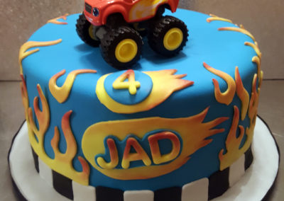 Cartoon Truck Cake