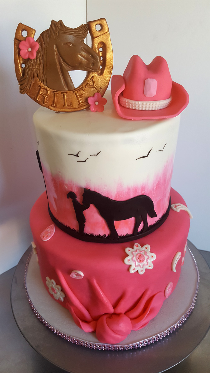 Girl with Horse Cake