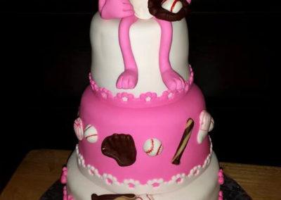 Pink Panther Baseball Cake