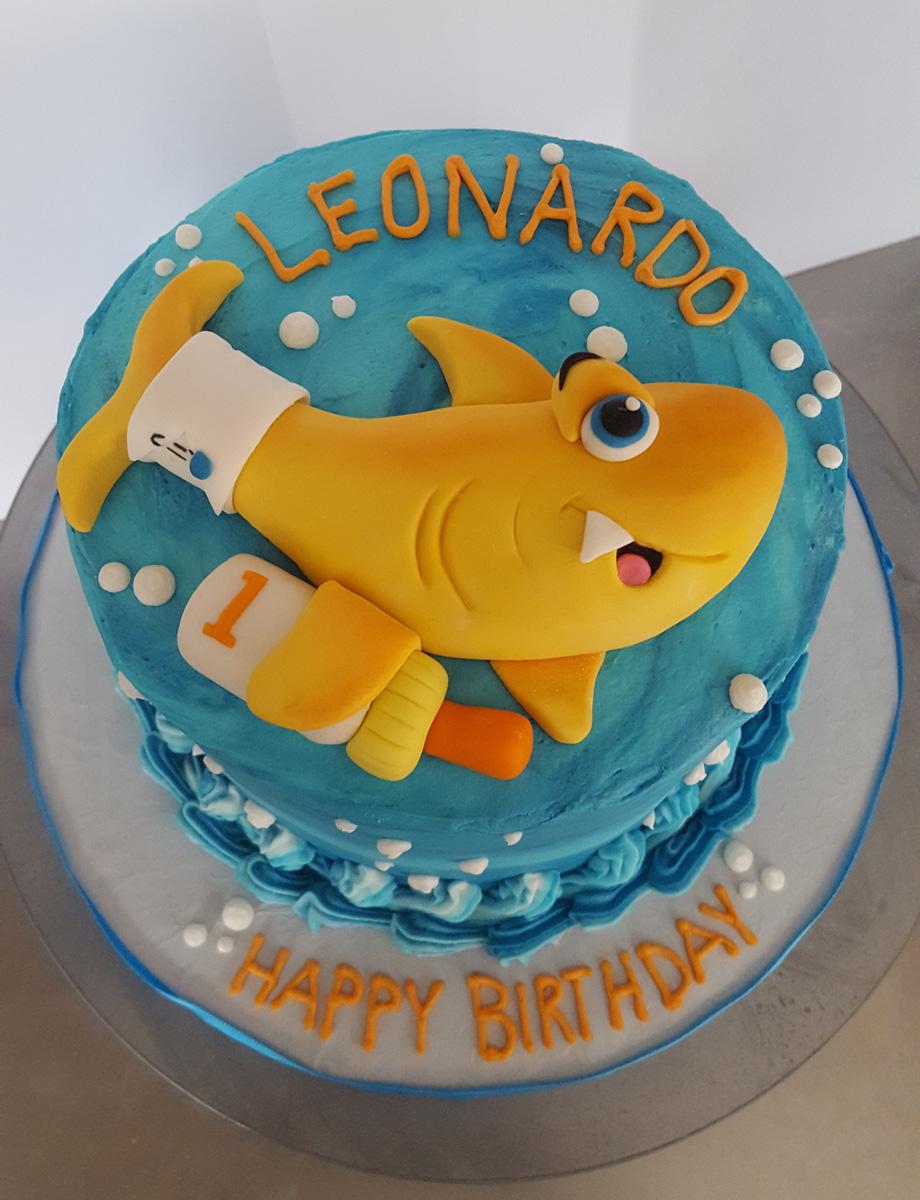 Shark Baby Smash Cake