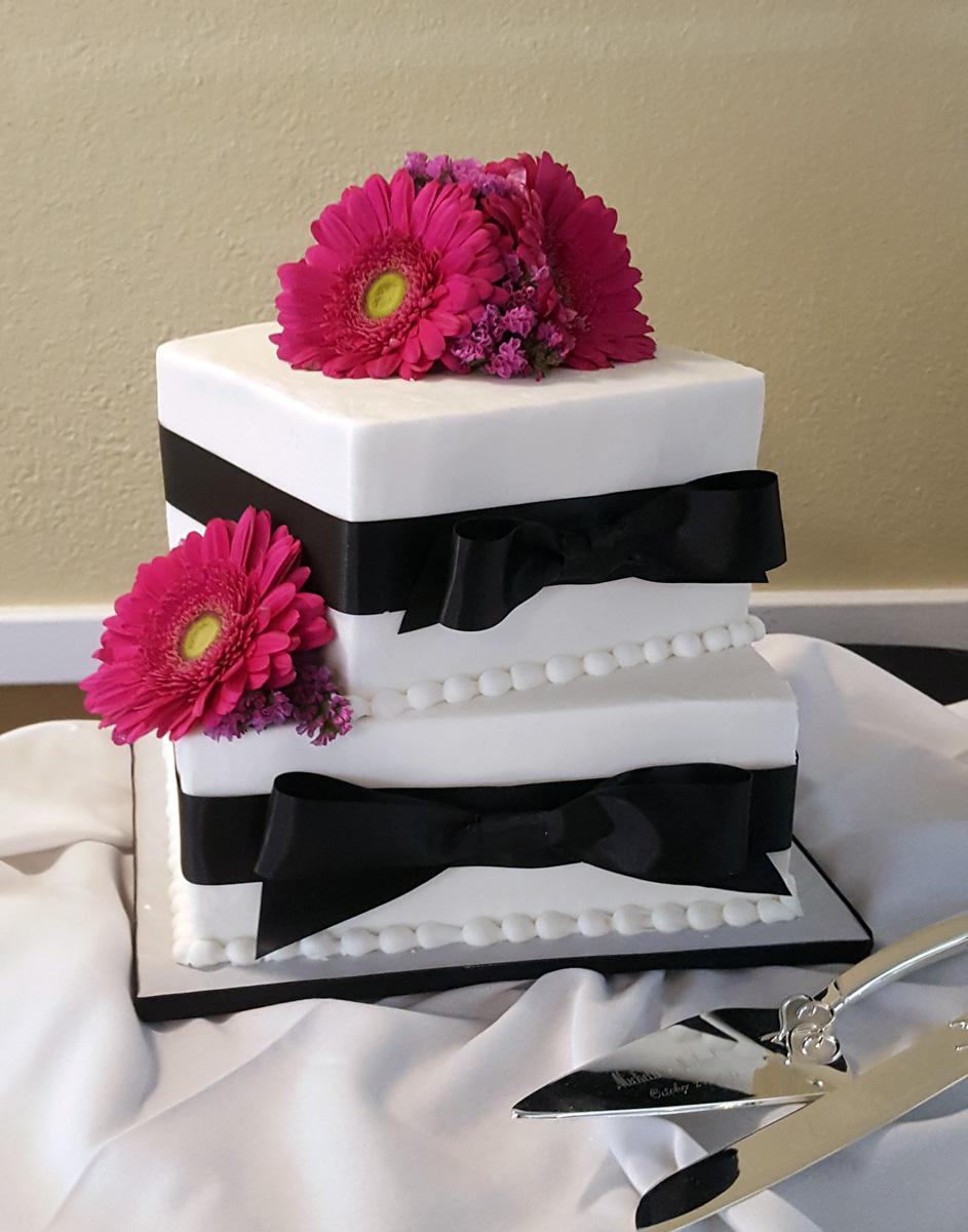 Square Ribbon Cake